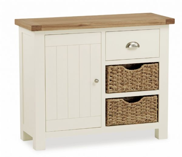 Country Small Sideboard with Baskets